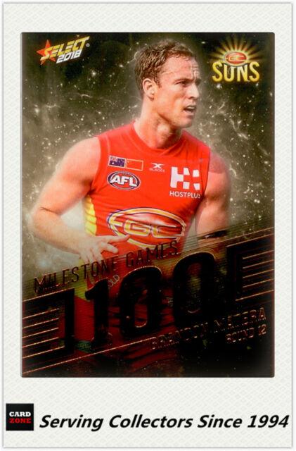 2018 AFL Footy Stars Trading Card Milestones Subset MG42 B. Matera (Gold Coast)
