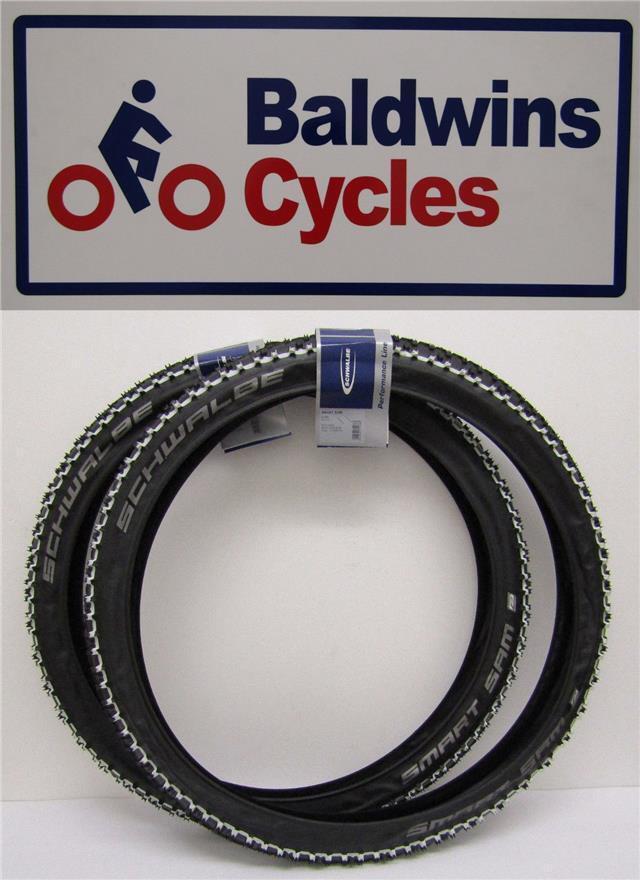 26 x 2.25 SCHWALBE SMART SAM WHITE LINE Puncture Predection KNOBLY Bike Tyre
