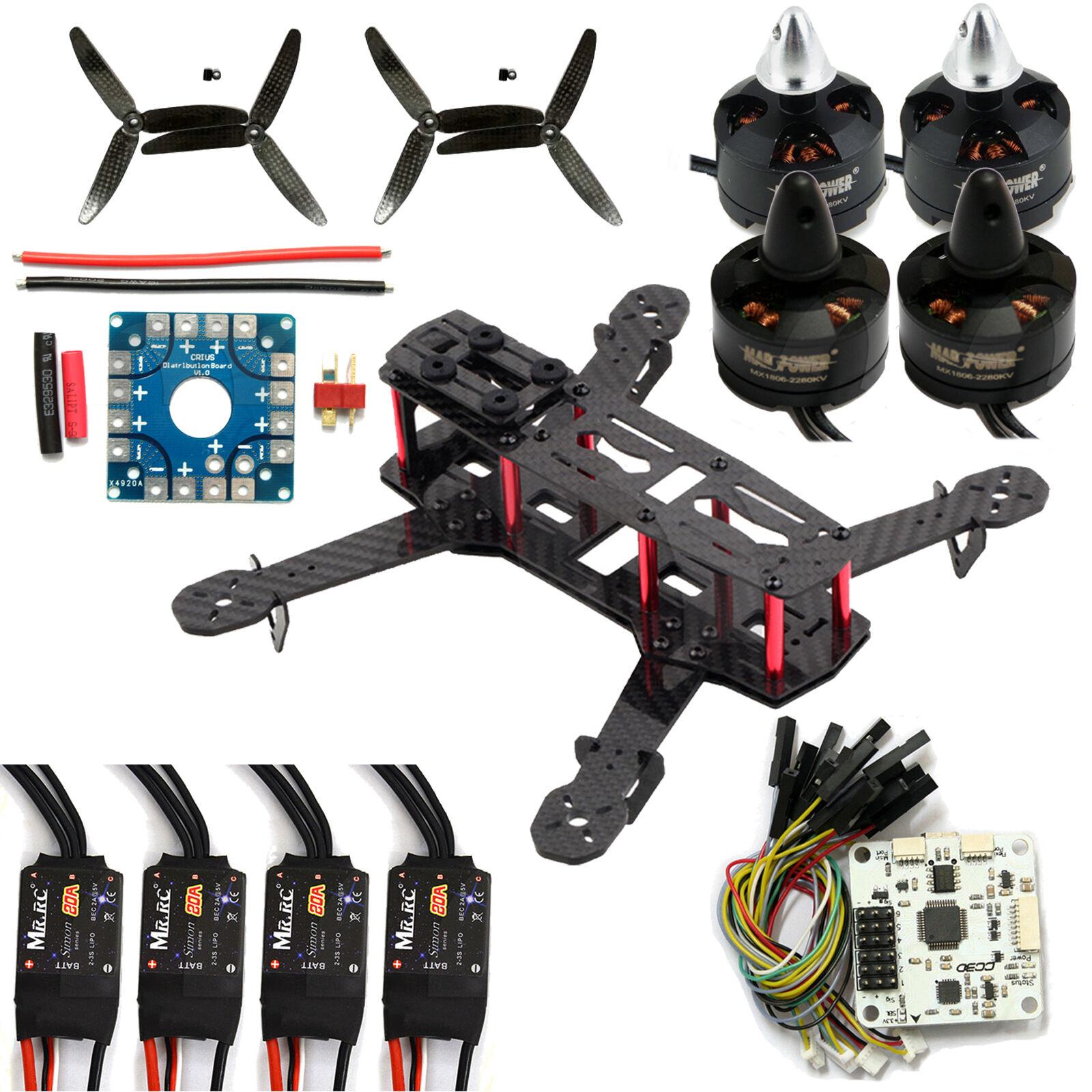 varm 250 Kolfiber Quadcopter Framme Kit CC3D Propeller 2280KV Motor 20A ESC OZ