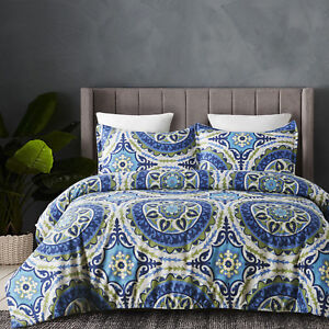 Lightweight-Microfiber-Duvet-Cover-Set-Bohemia-Style-Reversible-Color-Queen