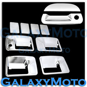 99-07 Ford Super Duty Chrome 4 Door Handle w/o PSG Keyhole+Tailgate Cover