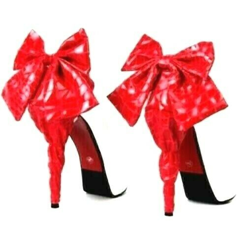 High Heel Covers Red Leather Fabric Slip On Fits All Shoe Sizes Imported