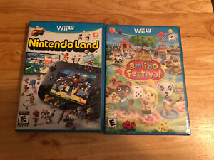 Nintendo-Land-Nintendo-Wii-U-game-w-manual-Animal-Crossing-Amiibo-Festival-NEW