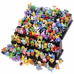 144Pcs Tomy Pokémon Figures Model Collection 2-3cm Miniature Pokémon toys dolls