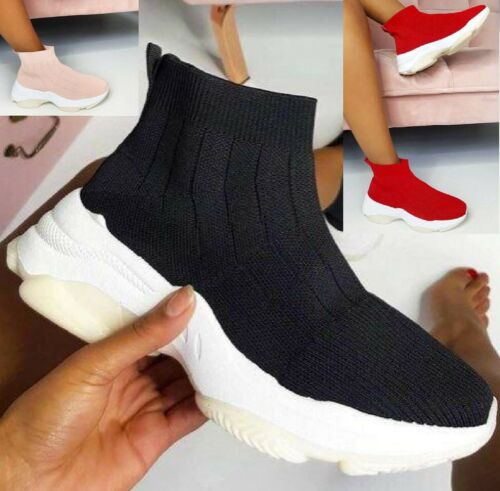 LADIES WOMENS SOCK SNEAKERS BALI SPORT STRETCH PUMPS SPEED KNIT TRAINERS SHOES