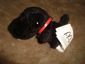 2004-Mcdonalds-The-Dog-Black-Labrabor-Plush-3-5-034-L-x-2-034-H