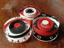 3 Guitar speed volume/tone knobs...Flip Flop... Red/Black/White.   JAT