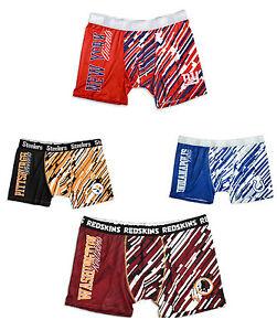 NFL-Men-039-s-Wordmark-Compression-Boxer-Shorts-Underwear-Pick-Team
