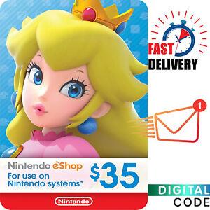 $35 Nintendo eShop Gift Card - Nintendo Switch 35 USD Digital Key - US Acc ONLY