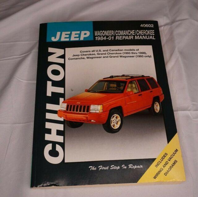 Chilton Repair Manual 40602 Jeep Wagoneer Comanche