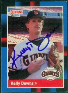 Original-Autograph-of-Kelly-Downs-of-the-San-Francisco-Giants-on-a-1988-Donruss