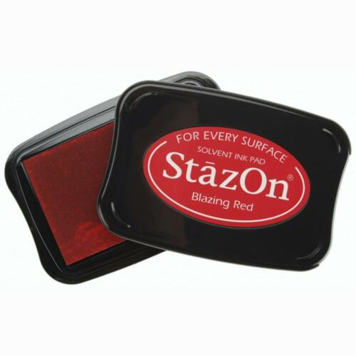 STAZON SOLVENT INK PAD - (25 Colours) Multisurface Use UK:FREE P&P ON EXTRA PADS