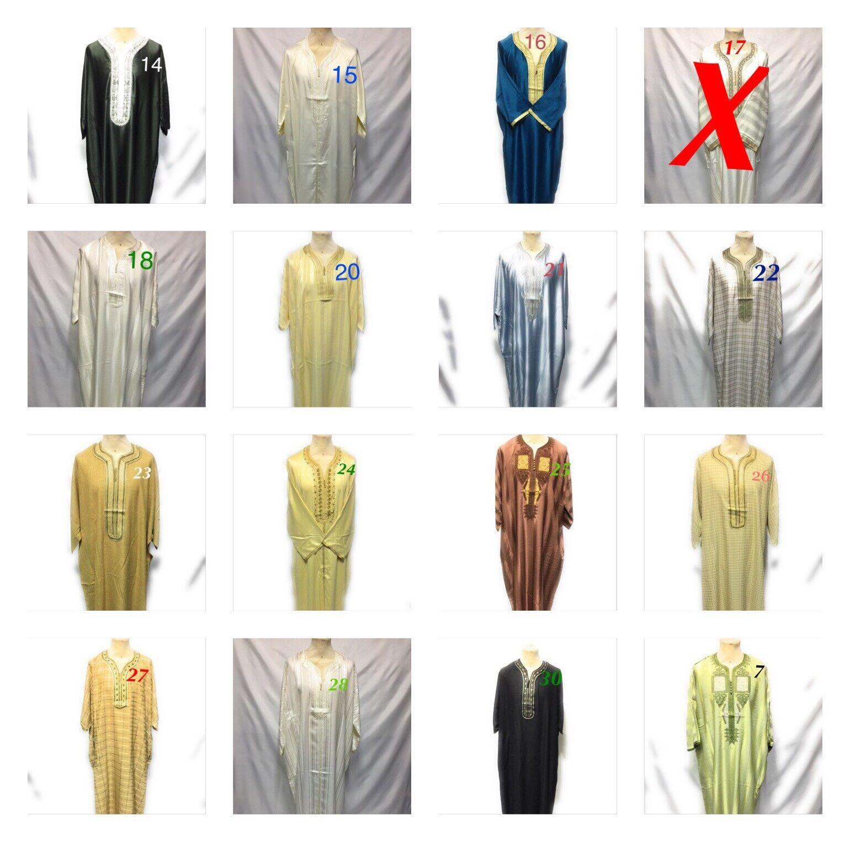 Men Mgoldccan thobe Jubba Arab robe kaftaan muslim dress SIZE 58