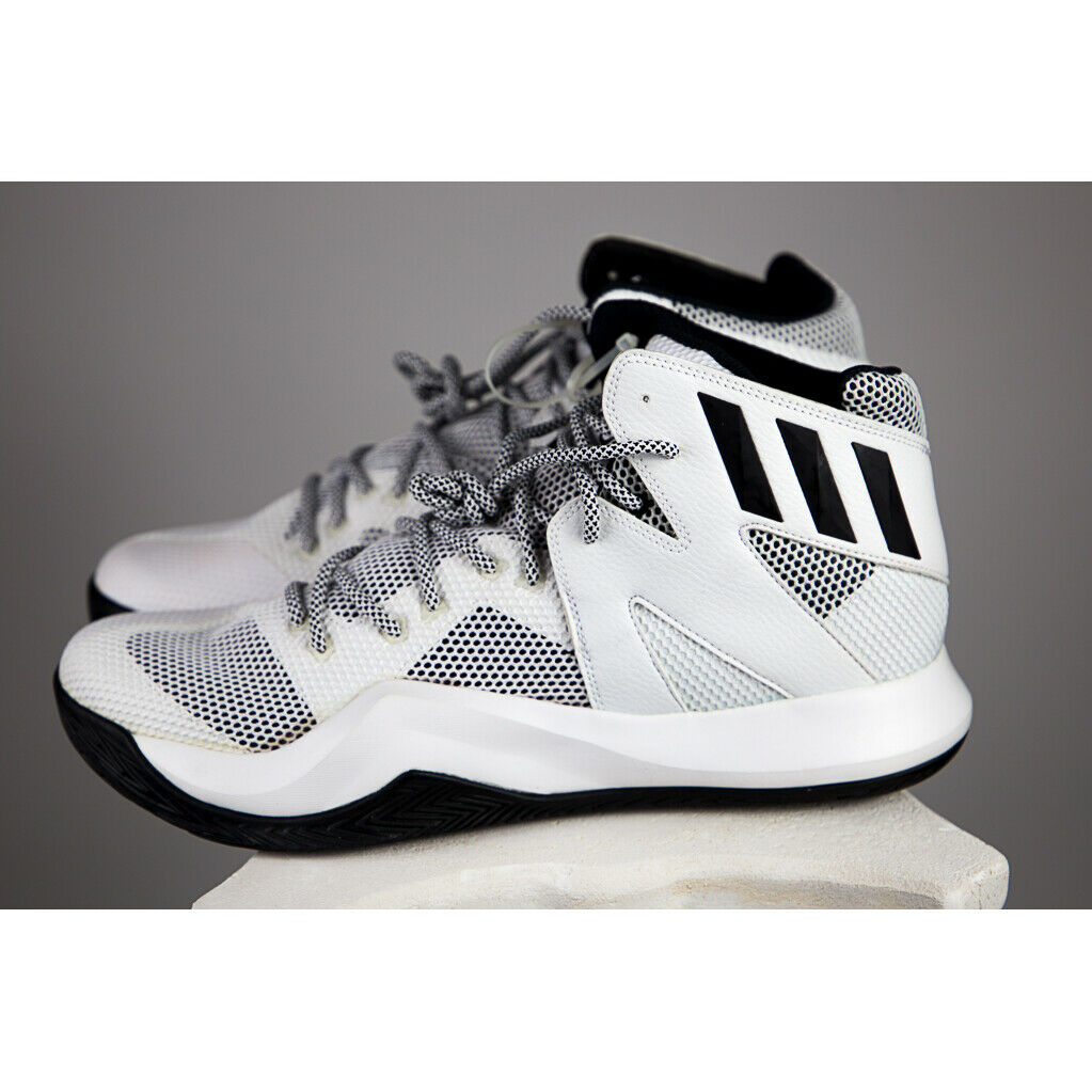 1175b386bd8d9 Adidas Mens Size 13 Black & White Crazy Bounce Basketball shoes, SKU B72766