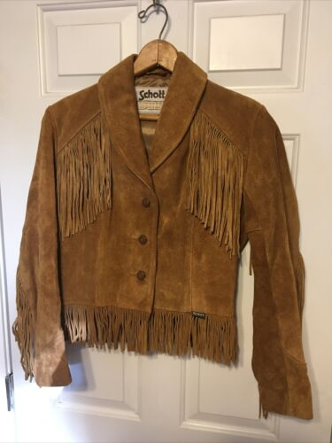 Vintage 80's Schott Western  Split Cowhide Leather