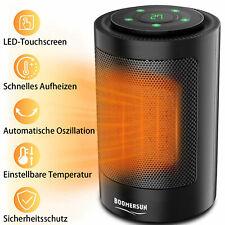 Mini Heizlüfter Fan Heizer 1500W LCD Anzeige Timer 2 Farben
