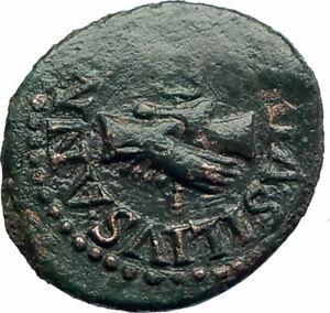 AUGUSTUS-Rome-Quadrans-Authentic-Ancient-Roman-Coin-HANDS-amp-CADUCEUS-i77420