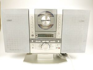 Fisher SLIM-1500 AM FM Radio CD Player Stereo W/ Detachable Speakers - TESTED