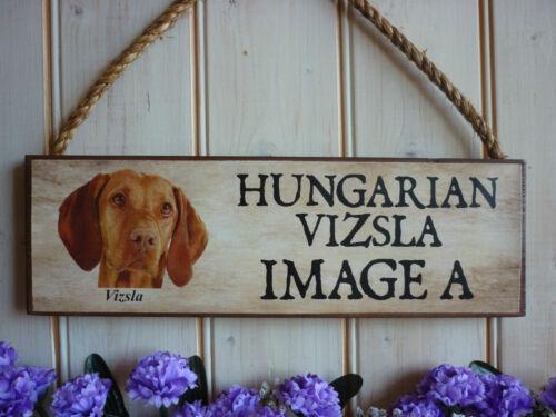 Made to order hongrois viszla signe long haired viszla cadeau jardin signe de bienvenue
