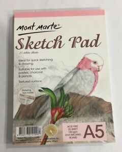 Mont-Marte-Sketch-Pad-25-White-Sheet-150-gsm-New-Drawing-Painting-Art-Book-A5
