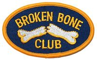 broken Bone Club Fractured Arm Or Leg Break Hospital Iron On Applique Patch
