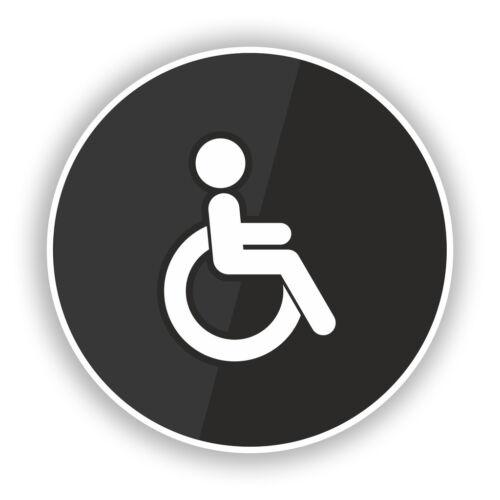2 X signo de inodoro discapacitados negocio de Puerta Pegatinas de vinilo #7841