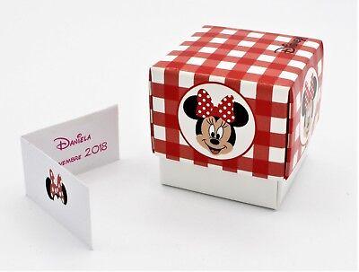 Generoso N 20 Scatola Bomboniera Fleur Portaconfetti Inserto Disney Minnie Garantire Un Aspetto Simile Al Nuovo In Modo Indefinibile