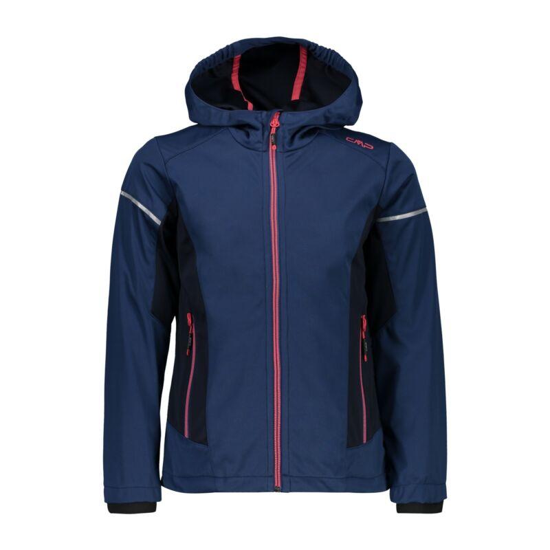 Systematic Cmp Softshell Jacket Girl Jacket Fix Hood Dark Blue Windproof Waterproof
