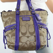New Coach Daisy Poppy Pop C Shoulder Pocket Tote Shoulder Hand Bag F20101 RARE