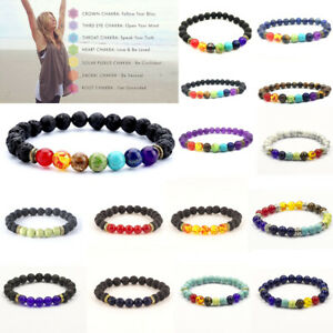 7-Chakra-Healing-Beaded-Bracelet-Natural-Lava-Stone-Diffuser-Bangle-Jewelry-Gift