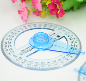 Pop 10cm 360 Degree Protractor Ruler Angle Finder Swing Arm School Office AU
