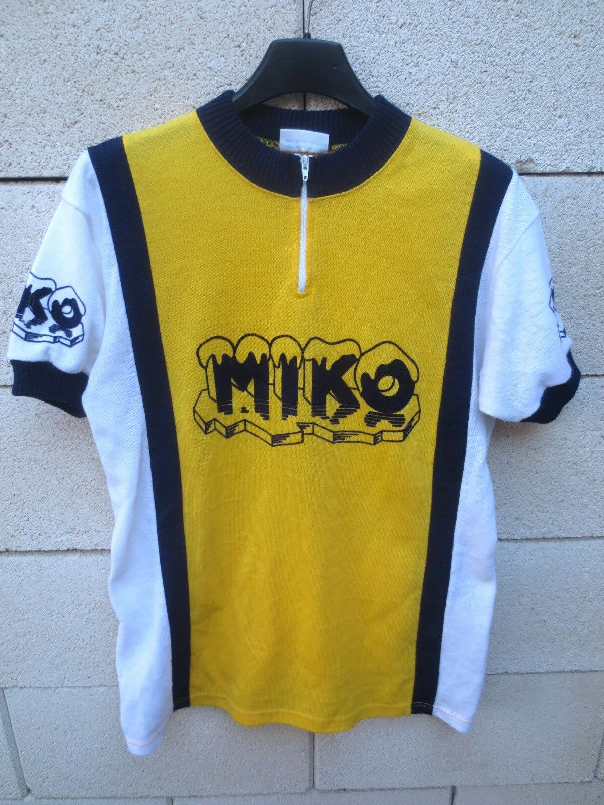 Gelb jersey cyclist miko years 70 shirt leotard vintage shirt maglia m