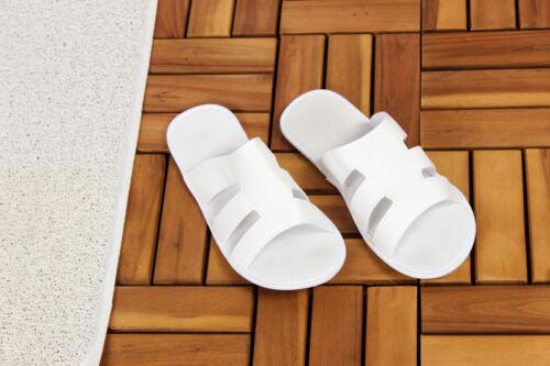 5 x Duschschuhe Gr 38 Badeschuhe Saunaschuhe Strandschuhe Damen Herren weiss