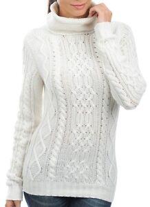 Balldiri donna cashmere collo maglia Pullover a Xl lavorato White Fädig 100 alto con 10 da rTIrw