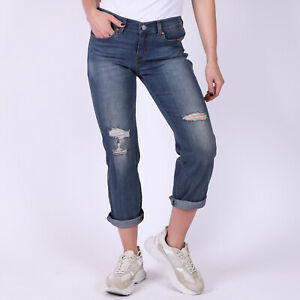 Levi-039-s-Boyfriend-Adventure-Blues-stretch-Damen-blau-Jeans-Groesse-27