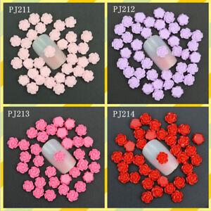 50pcs-3D-Colorful-Resin-Rose-Flower-Alloy-Nail-Art-Rhinestone-Decorations-DIY