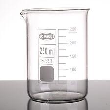 250ml Glass Beaker4pcslotlow Form Boro Beakerslab Chemistry Glassware