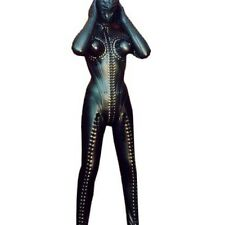 Custom Size Color Zipper Tailor Made Leather Catsuit With Glove Hood New #2920