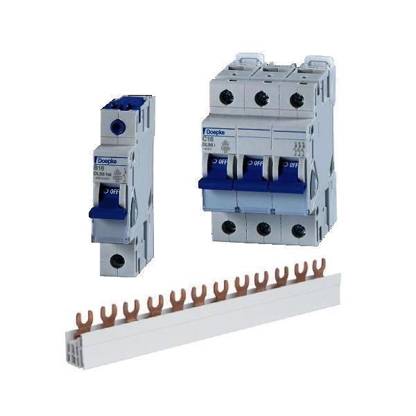 Sicherung Automat Doepke LS-Schalter 10A bis 40A 1polig 3polig B C Schiene