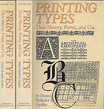 Printing Types : Their History, Forms, and Use-ExLibrary