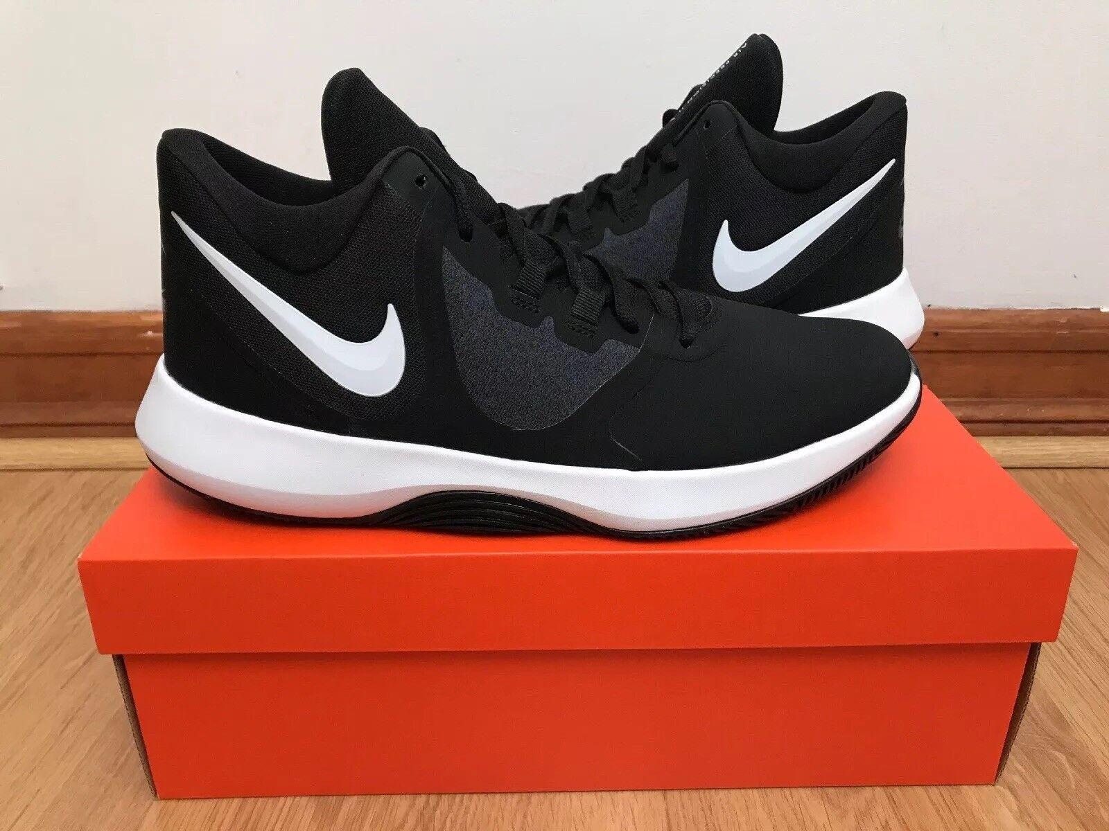 Mens Nike Air Precision II NBK Black White Size 10.5