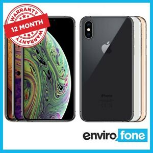 Apple iPhone XS Max 64GB 256GB 512GB Unlocked SIM Free Refurbished Smartphone