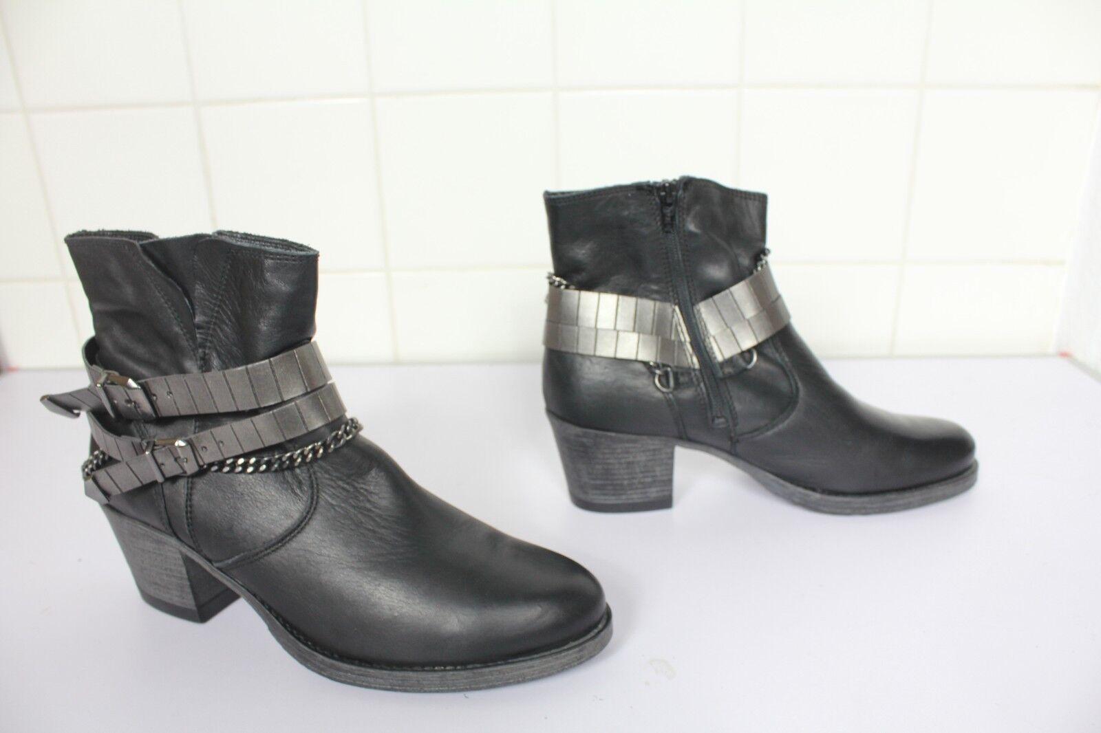 Tamaris Trendy Elegante Stiefeletten Stiefel Echtleder Schwarz Eu 41- Wie Neu
