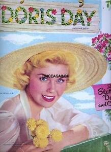 VINTAGE UNCUT 1955 DORIS DAY PAPER DOLLS~#1 REPRODUCTION~POPULAR VINTAGE SET!