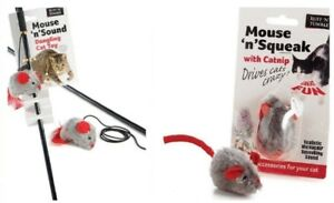 * Souris 'n' Squeak Toy With Catnip Réaliste Squeak Son Avec Ou Sans Dangler-afficher Le Titre D'origine