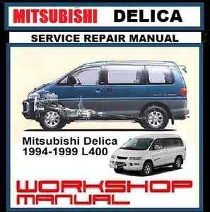 mitsubishi delica l400 l300 spacegear starwagon 2wd 4wd workshop rh ebay com au 1991 Mitsubishi Van mitsubishi starwagon workshop manual pdf