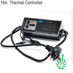 Image is loading 16Amp-Thermostat-Controller-For-Grow-Tent-Grow-Fan-  sc 1 st  eBay & 16Amp Thermostat Controller For Grow Tent Grow Fan Room ...