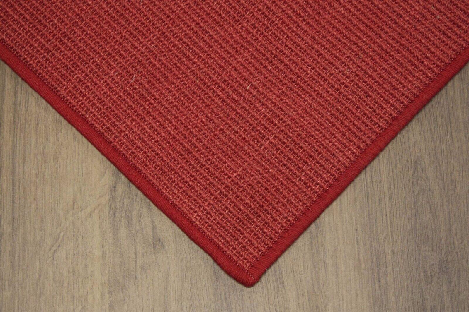 Sisal Sisal Sisal alfombra umkettelt rojo 100x200cm 100% sisal gekettelt d6837d