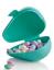 "Tupperware Avocado Storage Container Aqua 5/""x4/""x3/"" Apples Grapes On the Go New"