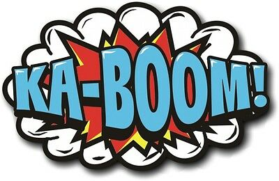 100% Vero Cartoon Prop-ka-boom 28 Cm X 18,5 Cm-